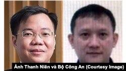Tề Trí Dũng (trái) và Bùi Quang Huy. (Ảnh Thanh Niên và Bộ Công An)