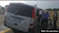 Avtomobil qəzasında 8 nəfər ölüb (Foto Report agentliyinindir)