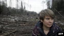 Лидер защитников Химкинского леса Евгения Чирикова (архивное фото)