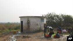 Centro de tratamento de água de Cangandala que está avariado