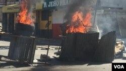 Protestas en Haití en contra del presidente Jovenel Moïse.