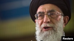 FILE - Iran's Supreme Leader Ayatollah Ali Khamenei called Tehran's negotiators 'hard-working and serious.'