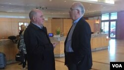 Зураб Абашидзу (справа) и представитель России Григорий Карасин