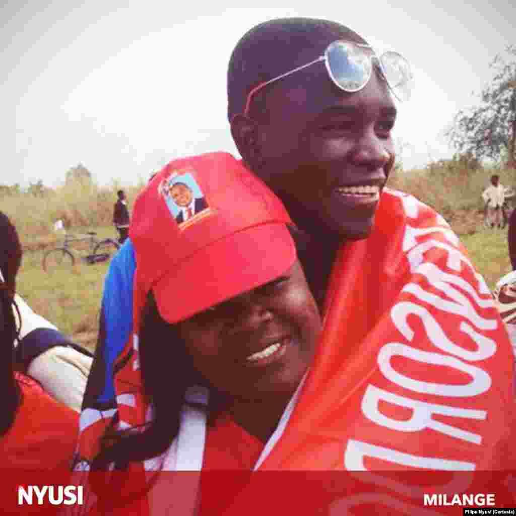 Apoiantes de Filipe Nyusi noMilange, província da Zambézia