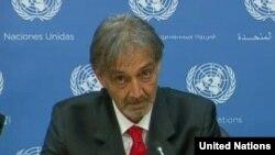 Francesco Rocca intervenant aux Nations Unies, le 6 mai 2015.