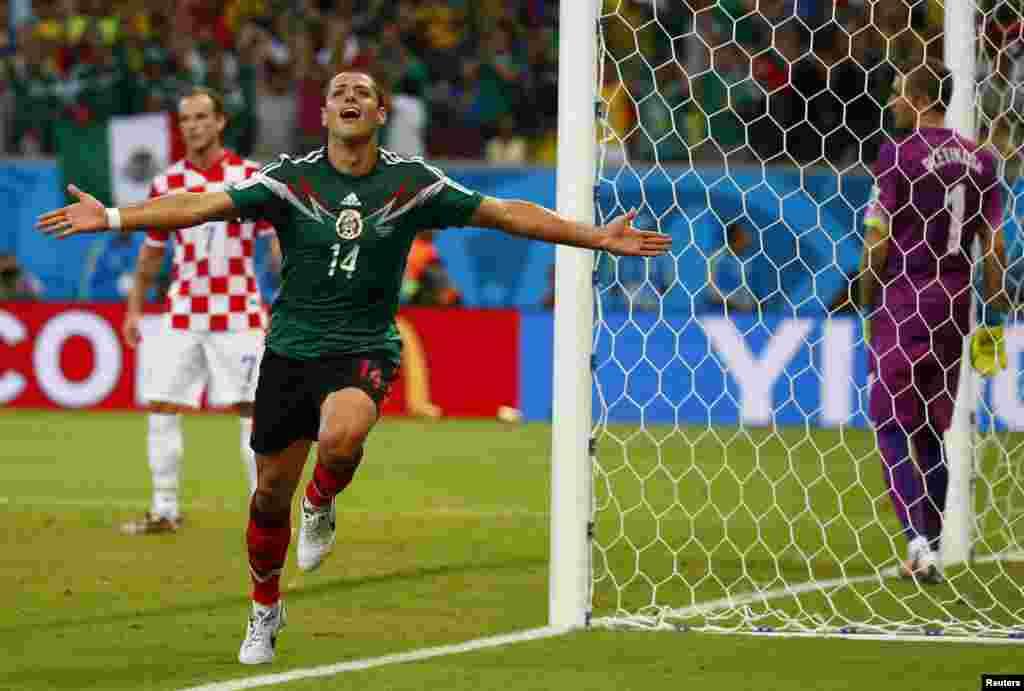 میکسیکو کے ہیمانڈیز کروئشیا کے خلاف تیسرا اور فاتح کُن گول کرکے اپنی ٹیم کو کامیابی دلائی