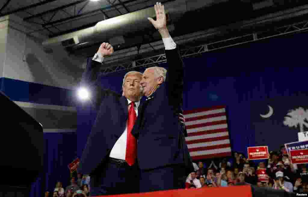 حضور دونالد ترامپ، رئيس جمهورى آمريكا در حمايت از كمپين فرماندار كاروليناى جنوبى