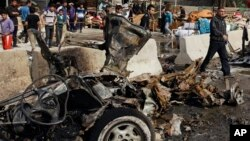 2월17일 바그다드 동부 차량폭탄 공격 현장