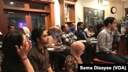 The Muslim Public Affairs Council hosted a debate-watch party, where most of the attendees are Muslim-Americans, in Arlington, Virginia, Sept. 26, 2016.