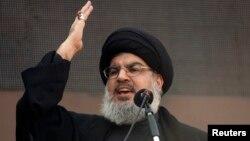 Hassan Nasrallah, leader du Hezbollah, Beyrouth, Liban, le 14 novembre 2013.