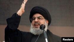 Người đứng đầu nhóm chiến binh Hezbollah của Libăng, ông Sayyed Hassan Nasrallah.
