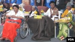 Some inmates at Ekuphumuleni Old People's Home in Bulawayo.