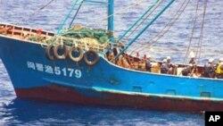 日本在钓鱼岛海域拘留的中国渔船