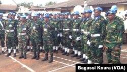 Des Casques bleus de l'ONU à Bangui, en septembre 2014.