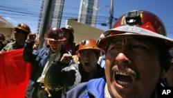 En marzo de 2008 se produjeron otras protestas en la mina de Colquiri, esta vez contra la compañía Sinchi Wayra por su política de despidos.