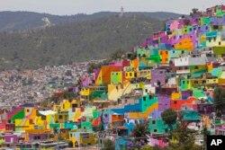 نقاشی دیوارهای شهر پالمیتاس در مکزیک
