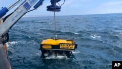 Thiết bị tìm kiếm xe thiết giáp lội nước của hải quân Mỹ.