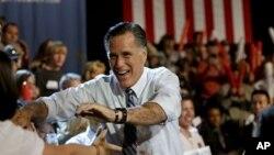 23일 미국 오하이오주에서 유세 중인 미트 롬니 공화당 대통령 후보.