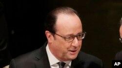 Le président français François Hollande, New York, 22 avril 2016