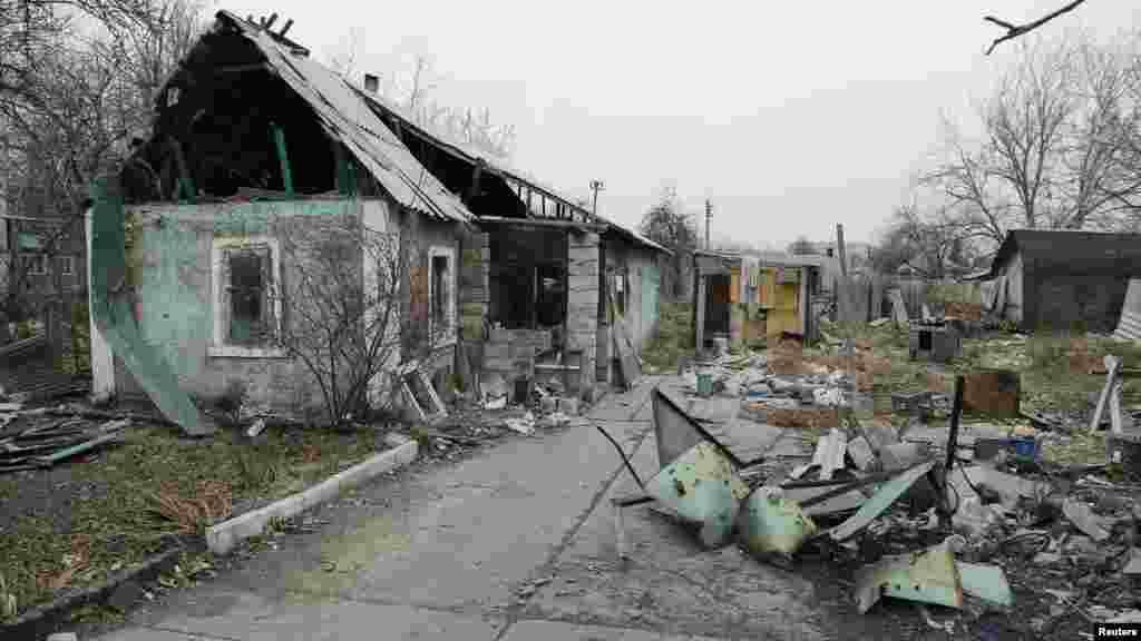 Unguwa kusa Donetsk a Ukraine, Nuwamba 18, 2014.