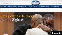 La página contiene acciones inéditas sugeridas por el gobierno del presidente Obama para tratar la adicción a las drogas.