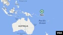 კუნძულ ნაურუს ადგილმდებარეობა