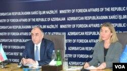 Elmar Məmmədyarov və Federika Mogerini