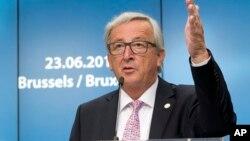 Kepala Komisi Eropa Jean-Claude Juncker berbicara di Brussels, Belgia (foto: dok).