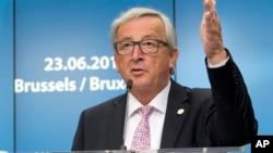 Presiden Komisi Eropa Jean-Claude Juncker berbicara di Brussels, Belgia (foto: dok).