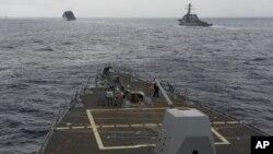 """美國軍艦""""斯普魯恩斯號""""(USS Spruance)資料照。"""