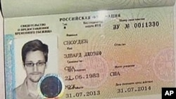NSA leaker Edward Snowden received this temporary asylum visa to Russia on August 1, 2013.