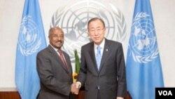 Eritrean FM Osmana Salih -Ban ki-MOON