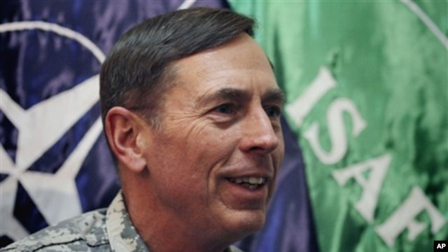 General David Petraeus, the top US and NATO commander in Afghanistan, speaks during an interview with The Associated Press at NATO's headquarters in Kabul, Afghanistan, March 9, 2011