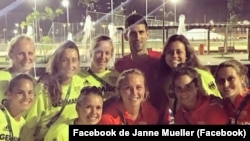 Novak Djokovic e atletas alemães, Rio de Janeiro