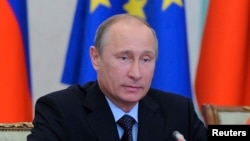 Russian President Vladimir Putin attends the European Union-Russian Federation (EU-Russia) Summit in Yekaterinburg, June 4, 2013.