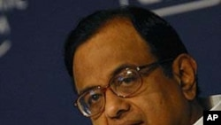 Minister of Home Affairs of India P. Chidambaram