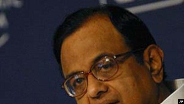Minister of Home Affairs of India P. Chidambaram