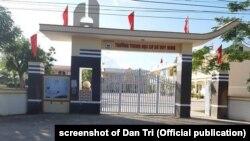 Trường THCS Duy Ninh (tỉnh Quảng Bình), nơi xảy ra vụ học sinh bị tát 231 cái