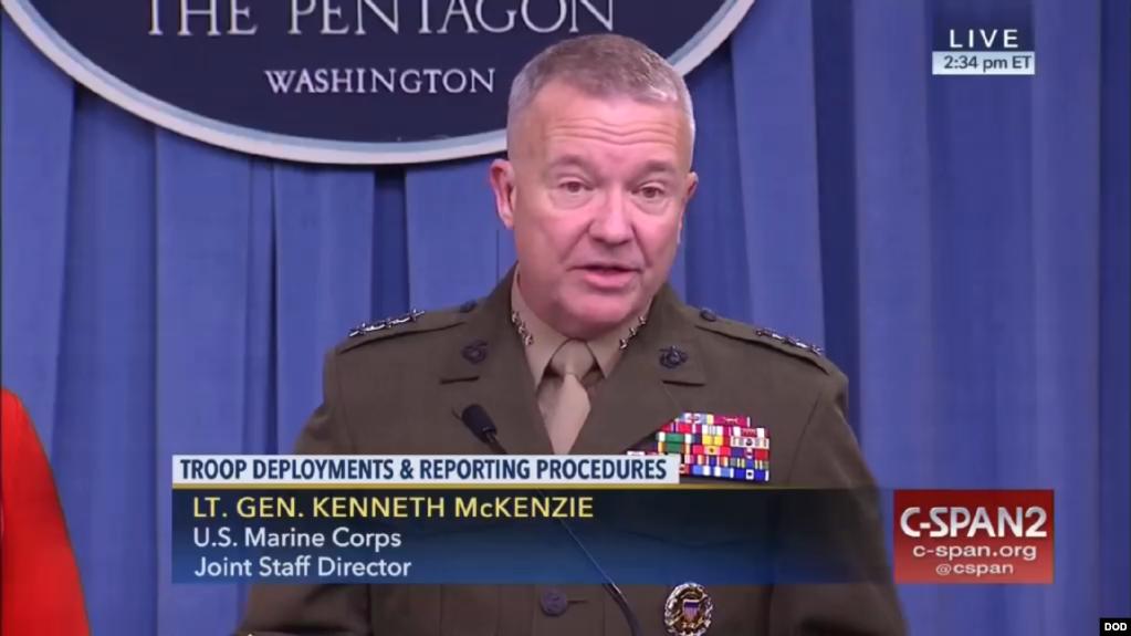 Tướng Kenneth McKenzie, Giám đốc Liên quân thuộc Bộ Quốc phòng Hoa Kỳ.