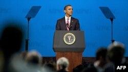 باراک اوباما، رئیس جمهوری آمریکا در جلسه روز یکشنبه چهارم مارس نشست سالانه ایپک، کمیته روابط اسرائیل و آمریکا در واشنگتن دی سی