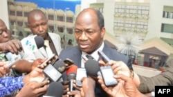 Burkina Faso's FM Djibrill Basole June 10, 2013 Ouagadougou
