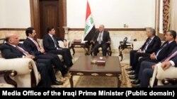 دیدار حیدر العبادی نخست وزیر عراق و نچیروان بارزانی نخست وزیر دولت محلی اقلیم کردستان در بغداد - آرشیو