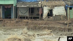 Rising sea levels threaten the environment and livelihood of the Ca Mau province community