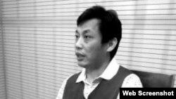 """环保大V董良杰在央视上""""被亮相""""(网络图片)"""