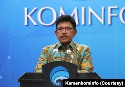 Menteri Komunikasi dan Informatika Johnny G Plate. (Foto: Courtesy/Kemenkominfo)