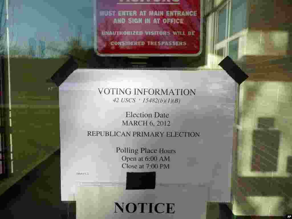 投票站标示之一:开放与关闭时间