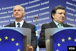 Manuel Barroso i George Papandreou