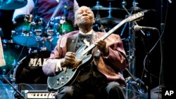 B.B. King performing in Los Angeles, California in 2011. (Photo by Paul A. Hebert/Invision/AP)