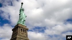 美国的自由女神像,拥有民主自由价值观的美国被某些中国人看作境外势力之首。