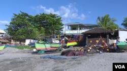 菲律賓首都馬尼拉西北部的馬辛洛克漁村。
